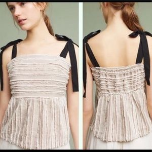 NWT Anthropologie Maeve with Ribbon Ties